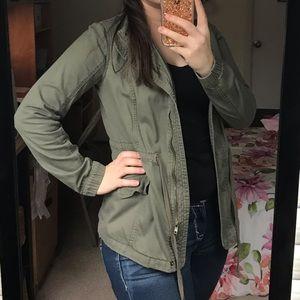 Jackets & Blazers - Green cargo casual jacket, Size S